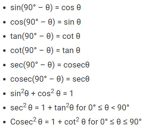Other Tigonometry Fomulas