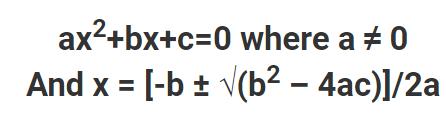 Algebra or Algebric Equations
